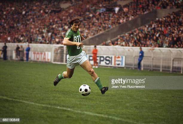 French soccer player Dominique Bathenay in action during the French Cup final between AS Saint Etienne and Stade de Reims Saint Etienne won 21