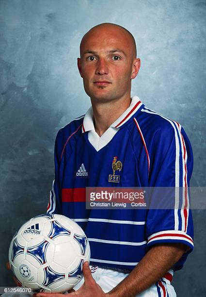 French soccer player Franck Leboeuf wearing the national team shirt