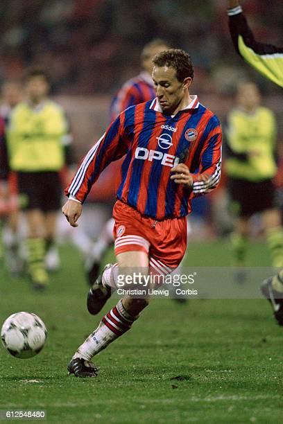 French soccer player JeanPierre Papin in action during a Bundesliga match against Borussia Dortmund