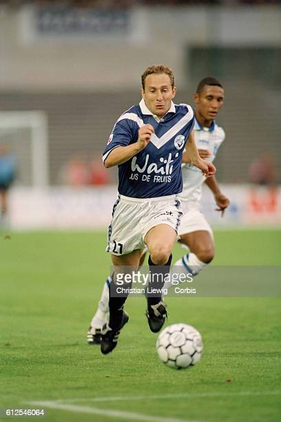 French soccer player JeanPierre Papin in action during a French Championship match against Auxerre