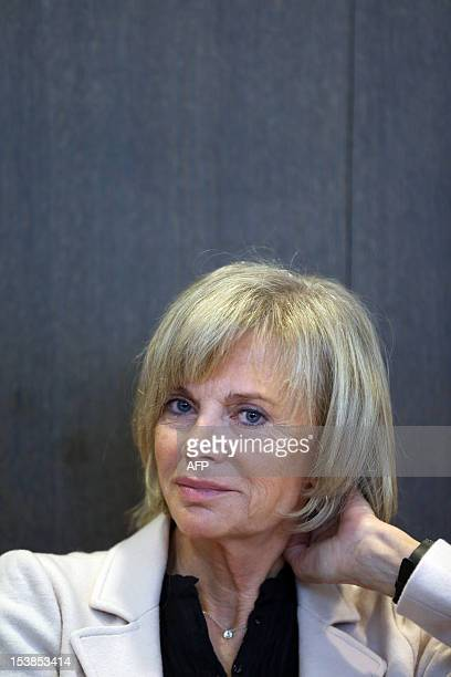 French Socialist deputy and former minister Elisabeth Guigou waits the hearing of the president of the Syrian National Council on October 10 2012 by...