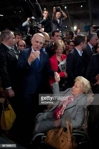 French Socialist party Congress on October 28 2012 in Toulouse southwestern France Socialist leader Harlem Dr with prime minister JeanMarc Ayrault...