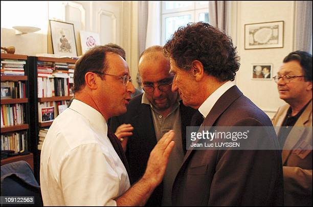 French Socialist Party Execs Meet In Francois Hollande Office Rue De Solferino To Discuss The Results Of The European Election On June 13 2004 In...