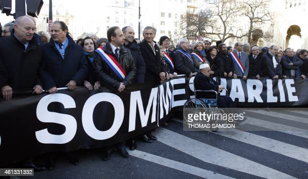 French Socialist Party first secretary JeanChristophe Cambadelis UMP rightwing party member JeanFrancois Cope French writer Bernard HenriLevy former...