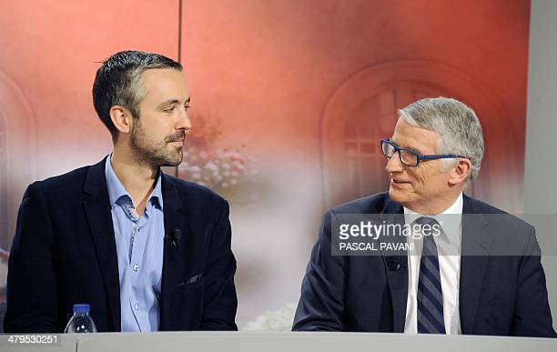 French Socialist Party mayor of Toulouse and candidate for the upcoming mayoral elections Pierre Cohen and France's EELV green party candidate for...