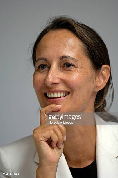 French Socialist Party member and National Assembly deputy Segolene Royal at the Socialist summer university staged in La Rochelle to debate...