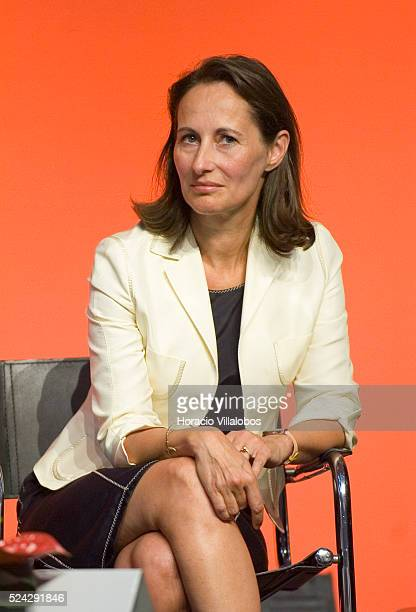 French Socialist Party member and National Assembly deputy Segolene Royal at the Socialist summer university, staged in La Rochelle to debate...