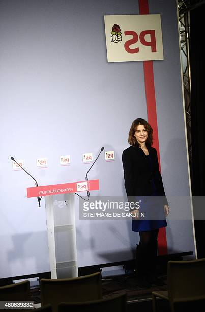 French Socialist party spokeswoman Juliette Meadel poses on December 18 2014 at the PS headquarters in Paris AFP PHOTO / STEPHANE DE SAKUTIN