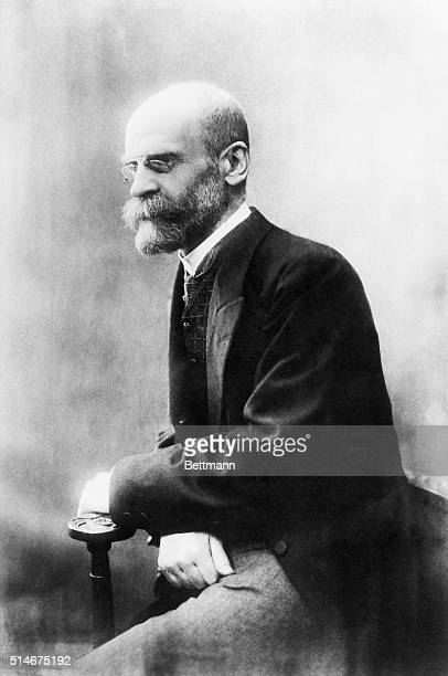 French socialist philosopher and professor Emile Durkheim sits for a portrait