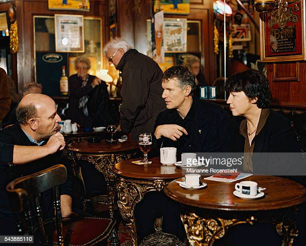 French socialist politician Martine Aubry Mayor of Lille with Didier Fusillier Managing Director of Lille 2004 European capital of Culture and...
