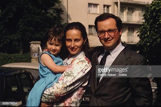 French socialist politicians Segolene Royal and husband Francois Hollande with their daughter Clemence