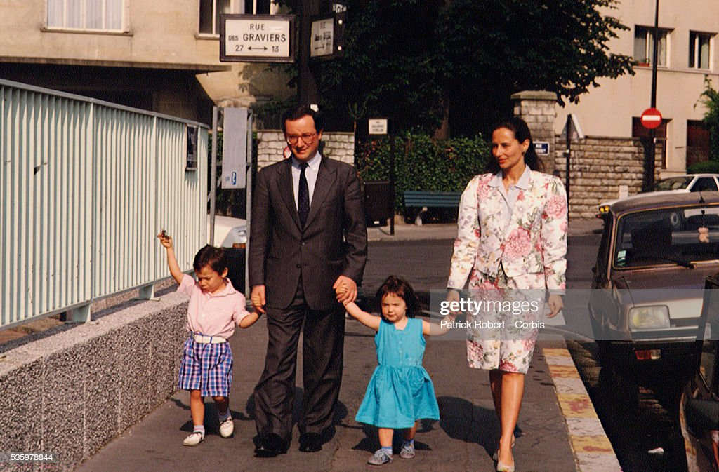 Segolene Royal and Francois Hollande with family
