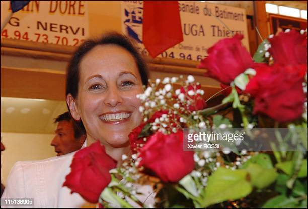 French socialist presidential candidate Segolene Royal at the fete de la rose in Lorgues France on May 28 2006