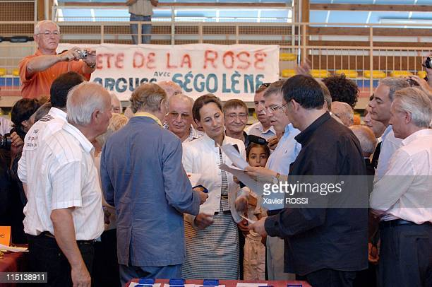 French socialist presidential candidate Segolene Royal at the fete de la rose in Lorgues France on May 28 2006 With militants