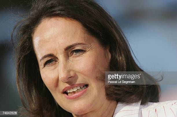 French socialist presidential candidate Segolene Royal attends a campaign rally on May 1 2007 in Charlety Stadium Paris France The French National...