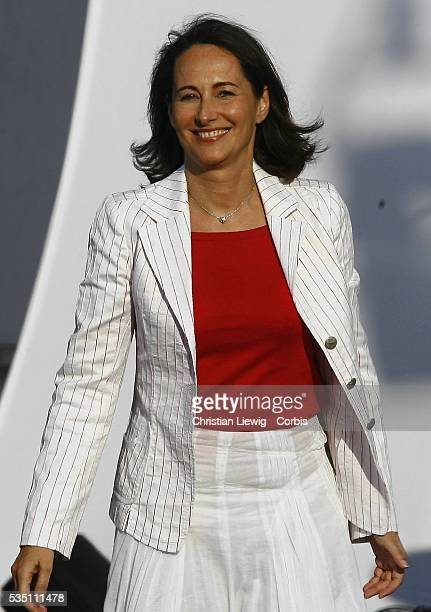 French Socialist presidential candidate Segolene Royal campaigns at a rally at the Charlety stadium in Paris
