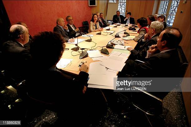 French Socialist Presidential Candidate Segolene Royal During A Meeting With Socialist Persons In Charge In A Office At The National Assembly In...