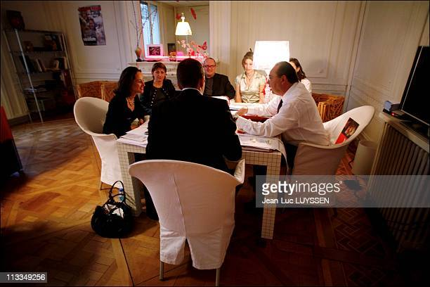 French Socialist Presidential Candidate Segolene Royal In Her Office In Her Campaign Headquarter In Paris France On February 09 2007 Segolene Royal...