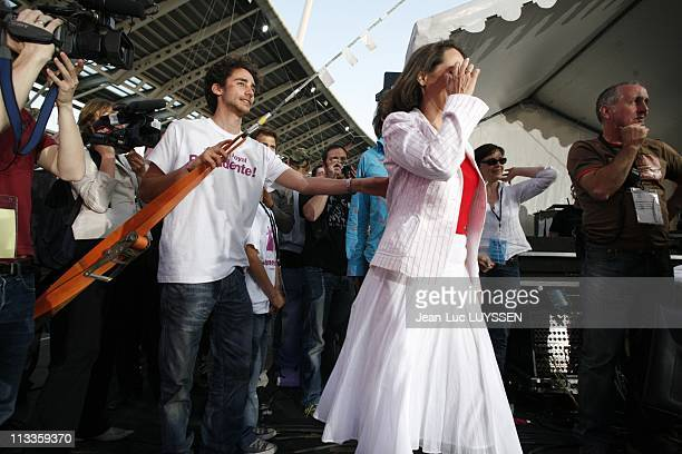 French Socialist Presidential Candidate Segolene Royal On Backstage During A MeetingConcert At The Charlety Stadium In Paris France On May 01 2007...