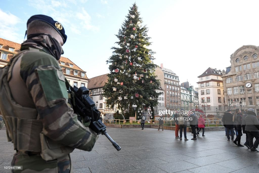 A French Soldier From The Sentinelle Security Operation Stands Guard