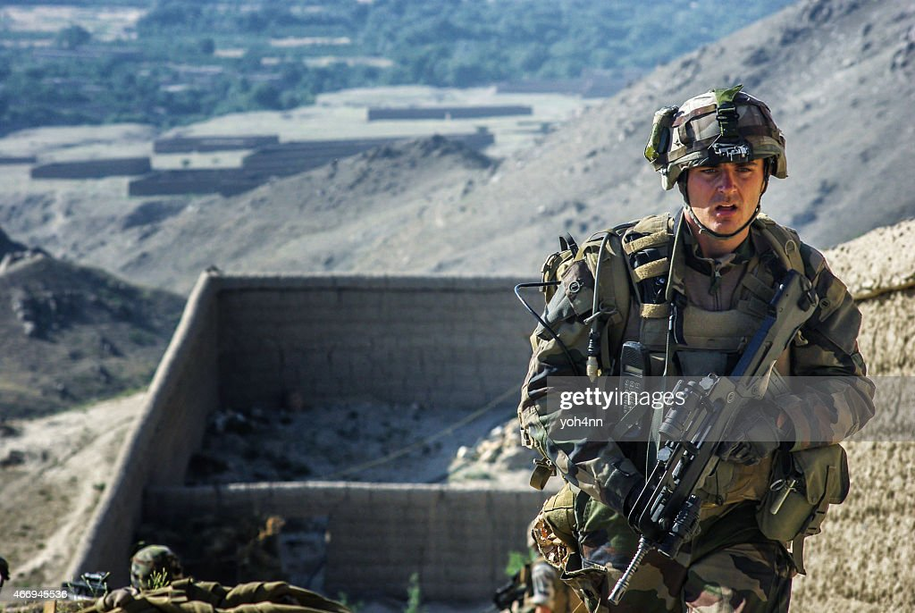 French soldier in Afghanistan : Stock Photo