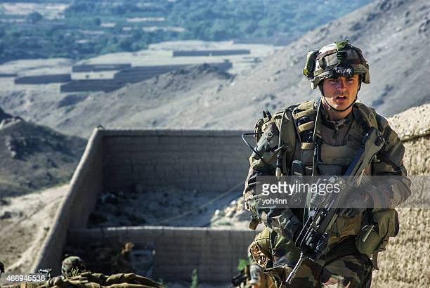 french soldier in afghanistan - afghanistan war stock photos and pictures