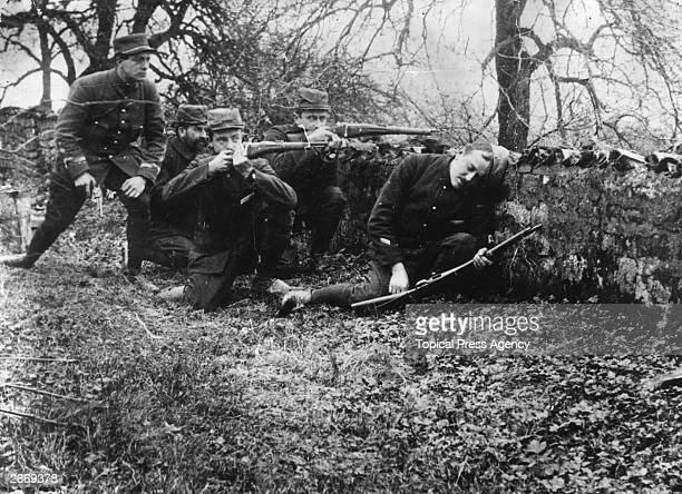 French soldiers during the Battle of the Marne.