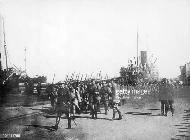 French soldiers entering in Beyruth Lebanon Just after the First World War the Ottoman Empire allied of the Germans were disolved Besides following...
