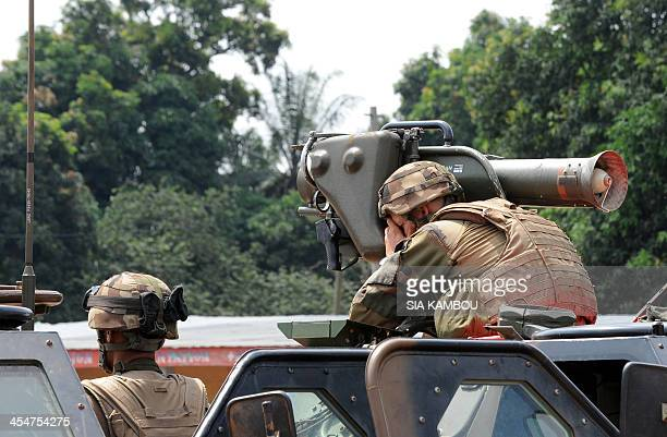 French soldiers of the Sangaris operation man a position on December 10 2013 in the North of Bangui Two French soldiers have been killed in the...