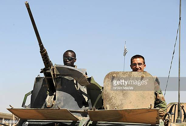 French soldiers with the NATOled International Security Assistance Force patrol the streets of Kabul on April 12 2008 Kouchner said on April 12 that...