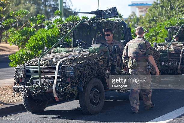 French soldiers with their Jeep