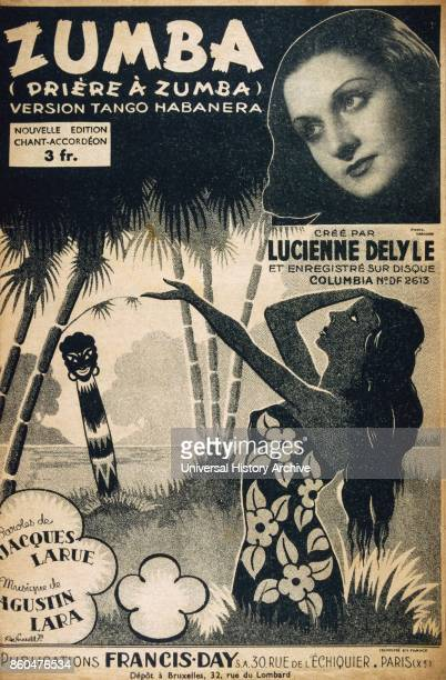 French song book for 'Pricre ö Zumba' by JLarue and Augustin Lara 1940 Sung by Lucienne Delyle