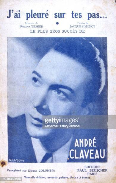 French songbook cover for songs sung by Andre Claveau a popular singer in France from the 1940s to the 1960s He won the Eurovision Song Contest in...