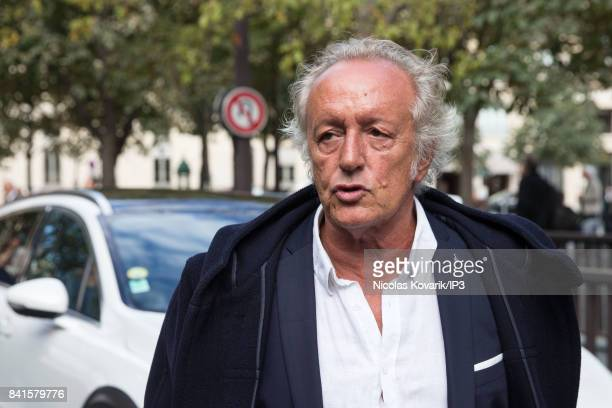 French songwriter Didier Barbelivien attends Mireille Darc's Funeral at Eglise Saint Sulpice on September 1 2017 in Paris France French actress died...