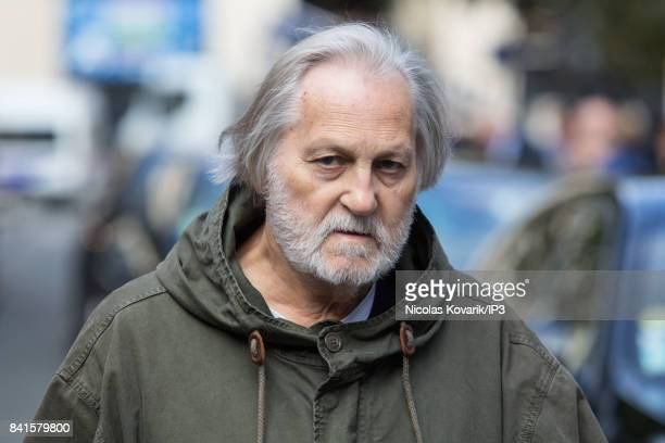 French songwriter Jean Jacques Debout attends Mireille Darc's Funeral at Eglise Saint Sulpice on September 1 2017 in Paris France French actress died...