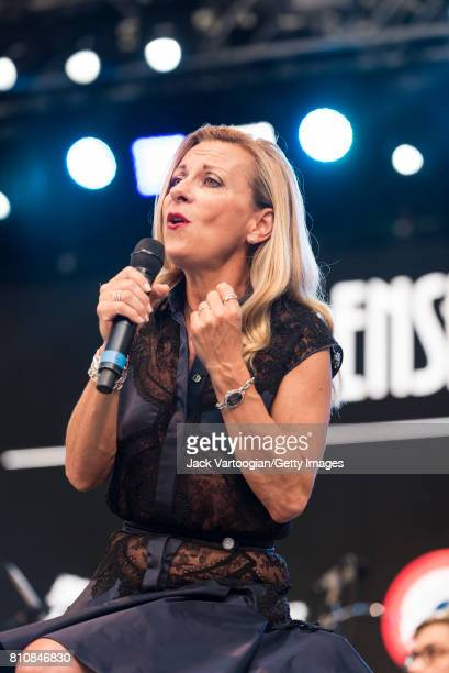 French soprano Natalie Dessay with the Ensemble Matheus performs onstage at Central Park SummerStage New York New York July 1 2017 The concert was...