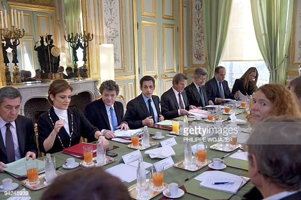 French special Advisor Henri Guaino, France's deputy minister for Ecology Chantal Jouanno, Ecology Minister Jean-Louis Borloo, France's President...
