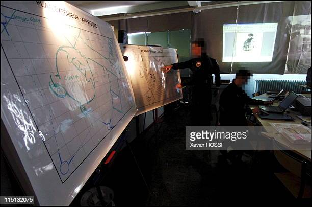 French special forces in France in 2004 Command post during hostage crisis simulation