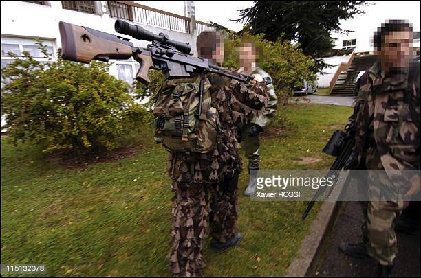 French special forces in France in 2004 Snipers get ready before storming
