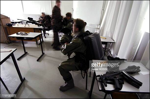 French special forces in France in 2004 Wearing NBC protective in view of hostage crisis exercise