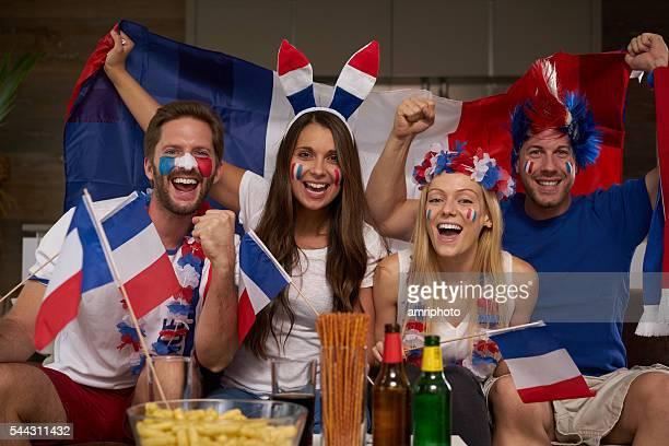 les fans de sport française - french football photos et images de collection