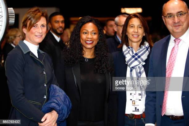 French sport minister Laura Flessel and Penelope Leprevost during the Longines Grand Prix of the Longines Masters Paris on December 3 2017 at Paris...
