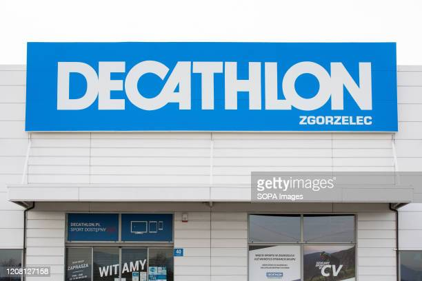 French sporting goods retailer, Decathlon shop seen in Zgorzelec.