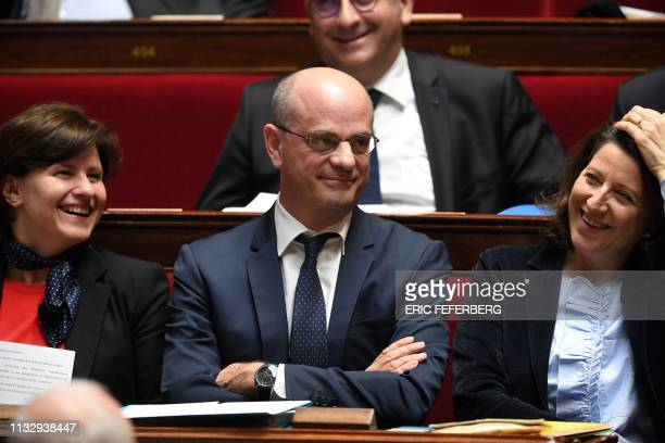 French Sports Minister Roxana Maracineanu French Education and Youth Affairs Minister JeanMichel Blanquer and French Health and Solidarity Minister...