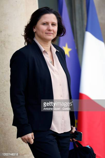 French Sports Minister Roxana Maracineanu leaves the Elysee Presidential Palace after a weekly cabinet meeting at Elysee Palace on January 29 2020 in...