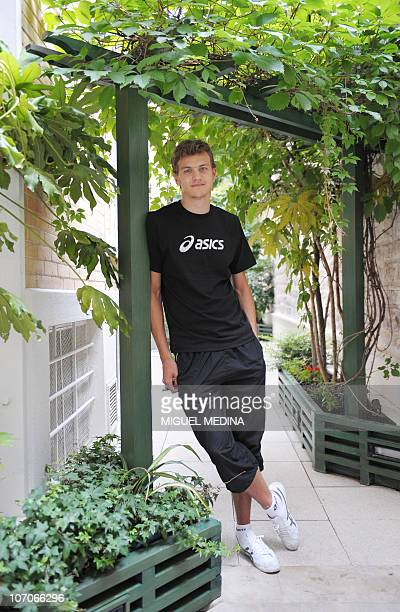 French sprinter Christophe Lemaitre poses following a press conference on July 13 2010 in Paris By running 100 metres in 998sec on July 9 Lemaitre...
