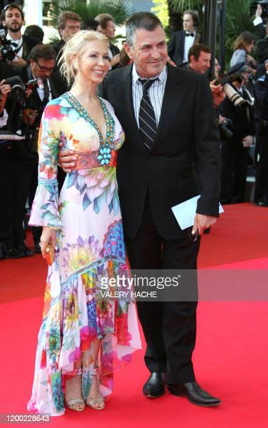 French stand-up comedian Jean-Marie Bigard arrives 19 May 2007 with his wife Claudia at the Festival Palace in Cannes, southern France, for the...
