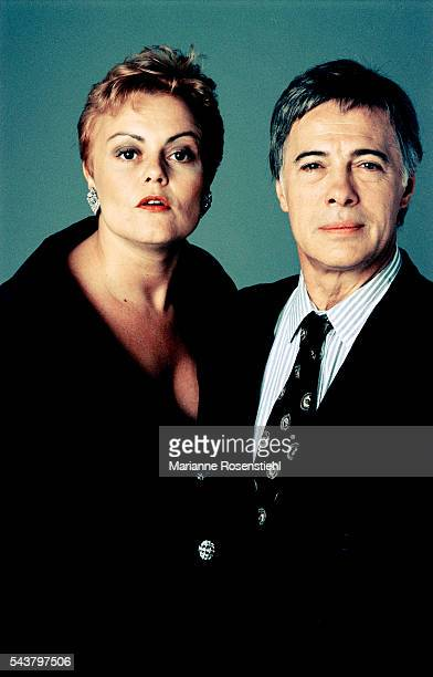French standup comedians Muriel Robin and Guy Bedos