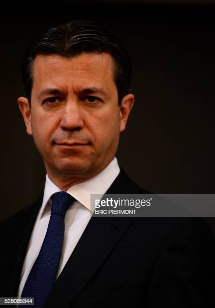 French state-owned electric utility company EDF former Chief Financial Officer Thomas Piquemal poses prior to his hearing by the Economic affairs...