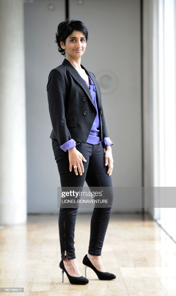 French state-run 'France 3' television channel's journalist and TV host, Patricia Loison poses on February 27, 2013 at the 'France Televisions' group's headquarters in Paris.